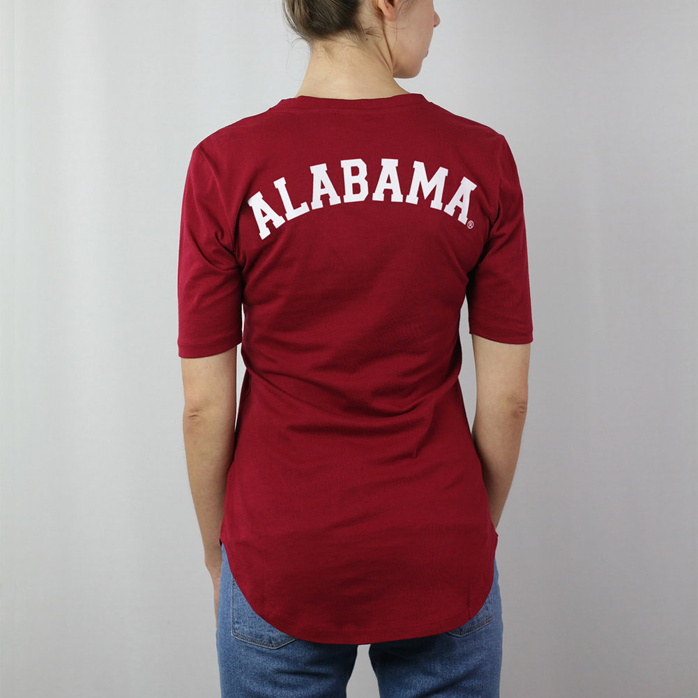 Alabama Crimson Tide Women's Curved Hem TShirt Image a